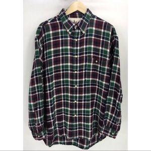 Bugle Boy Mens Vintage Plaid Flannel Cotton Shirt